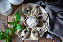 Dumplings With Blueberries On ...