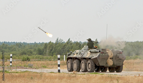 Foto Russian infantry fighting vehicle BTR-80