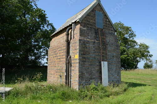 Photo Surviving unknown structure at the edge of a derelict First and Second World War