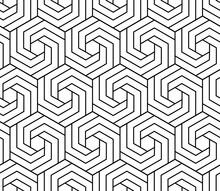 Vector Seamless Swirl Hexagon ...