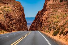 Empty Scenic Highway In Arizon...