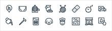 Retirement Home Line Icons. Li...
