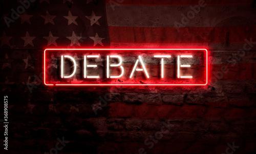 Debate Election USA Political Artwork Canvas
