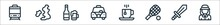 England Line Icons. Linear Set. Quality Vector Line Set Such As Lady, Sword, Tennis Racket, Tea Cup, Taxi, Beer, England.