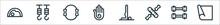 Pilates Line Icons. Linear Set...