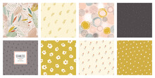 Trendy Seamless Patterns Set. ...