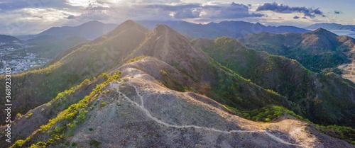Beautiful mountains at sunset, Vietnam, Nha Trang Canvas Print