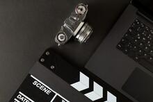 Retro Analog SLR Camera And Mo...