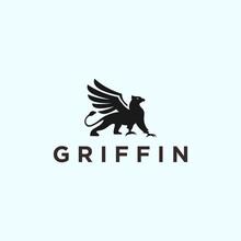 Griffin Logo Vector Silhouette Icon