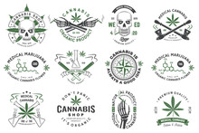 Set Of Medical Cannabis Badge,...