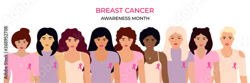National Breast Cancer Awareness Month Wallpaper Mural