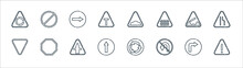 Signaling Line Icons. Linear S...