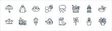 Spring Season Line Icons. Line...