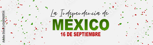 Valokuva Mexico Independence Day simple banner or header