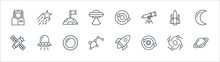 Space Line Icons. Linear Set. ...