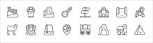 Desert Line Icons. Linear Set....