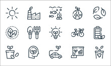 Ecology Line Icons. Linear Set...