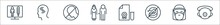 Stop Virus Line Icons. Linear Set. Quality Vector Line Set Such As Mask, Mask, Snake, Test, Old, Sneeze, Headache.