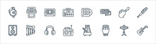 Music Line Icons. Linear Set. ...