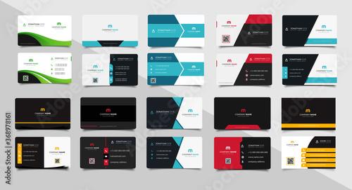 Fotografie, Obraz Set of corporate business card bundle.