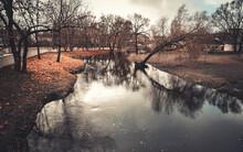 Gloomy Landscape Shot Of A Riv...