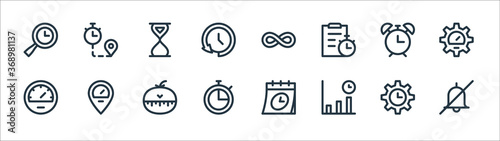 Photo speedometer and time line icons