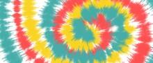 Tie Dye Pattern. Hand Drawn Ra...