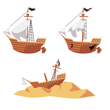 Pirate Ship Wreck Set - New An...