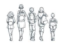 Back To School. Kids Schoolchi...