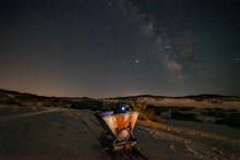 Milky Way Over The Sand Dunes ...