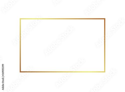 Obraz Gold frame border golden vector thin boarder square element - fototapety do salonu