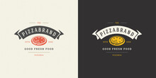 Pizzeria Logo Vector Illustrat...