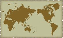 世界地図 アンティー...