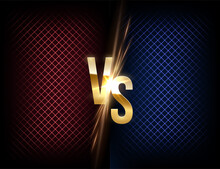 MMA, Wrestling, Boxing Fight Poster. Battle Vector Banner Concept. Girls And Boys Competition Illustration With Glowing Versus Symbol. Night Club Event Promotion.