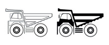 Large Dump Truck Drawing In Ve...