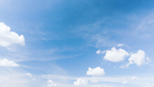 Blue Sky And White Clouds Abst...