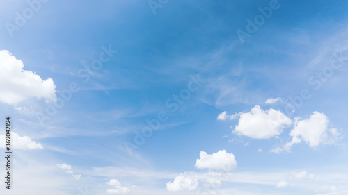 Valokuva Blue sky and white clouds abstract background.