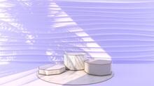 Octagonal Marble Podium, Golde...
