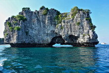 An Island With Steep Slopes Ri...