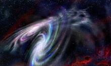 Collision Of Two Spiral Galaxi...
