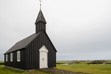 Black Church On A Cloudy Day