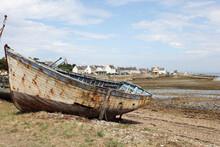 Boat Cemetery In Bretagne