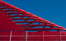 Detail Of A Cruise Ship's Red Chimney