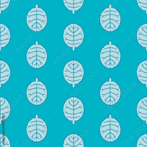 Fototapeta Toothed edge greenery seamless pattern background