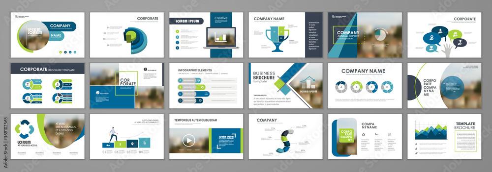Fototapeta Brochure layout design template set