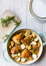 Roast Chicken And Potato Casse...