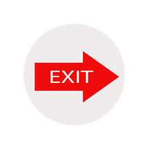 Exit Icon, Red Arrow