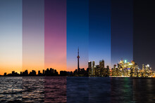Illuminated Toronto City At Ni...