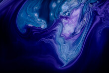 Glowing Liquid Color Waves Bac...