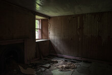 Light Through Window Of Abandoned House